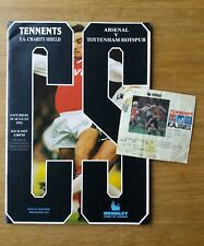 Original 1991 FA Charity Shield programme & ticket-ARSENAL Vs Tottenham