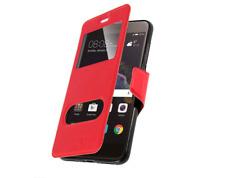 Etui Housse Coque Pochette Double Fenetre Flip Huawei P 8 Lite ( 2017 ) - Rouge