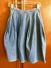 "Vintage 1980 ""Katharine Hamnett London"" denim maxi skirt"