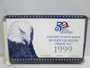 1999 US MINT STATE QUARTER PROOF SET