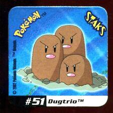 STAKS MAGNET AIMANT POKEMON N°  51 DUGTRIO E