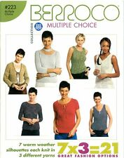 Berroco Multiple Choice #223 Knitting Pattern Book 7 Designs x 3 Yarns=21 -Women