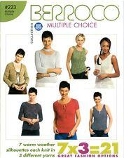 Berroco Multiple Choice #223 Knitting Pattern Book 7 Designs x 3 Yarns=21 -Women