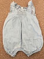 Girls Baby Gap Blue All In One Outfit Romper Summer Beach Holiday 3-6 Months B63