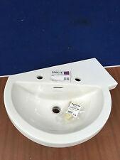 Heritage Bathrooms - Zaar PZWL15 Offset Corner Basin - L/H - 2 Tapholes - White