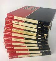 "Lot Of 10 Ampex Professional Reel To Reel Tape 641/611 Vintage Used W/ Music 7"""