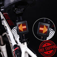 Rechargeable Intelligent Induction Bicycle LED Tail Light Warning Light Black