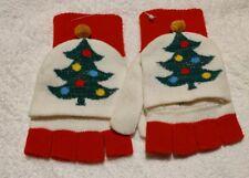 BNWT Christmas tree cut off fingerless gloves Primark
