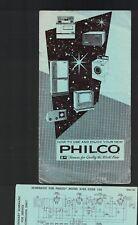 Philco Automático Clock-Radio Instrucciones Folleto 1961