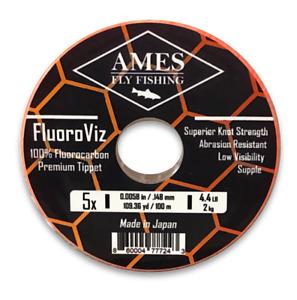 Ames Fly Fishing FluoroViz Premium Fluorocarbon Tippet 100 Meter Guide Spool 5X