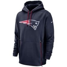 Men's Navy New England Patriots Sideline Performance Pullover Hoodie NFL 3XL