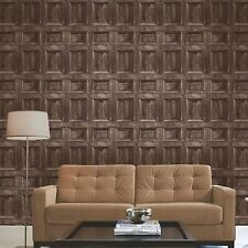 Distintivo fondo de Pantalla de Panel de Madera-Marrón Oscuro-FINE DECOR FD31055 De Madera