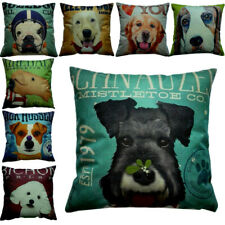 Dog Faces Pillow Cushions zipped washable 8 Fun Dog Breed Designs to Choose from