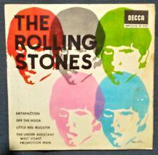 "ROLLING STONES: ""SATISFACTION + 3""  EP VINILO - E.P. VINYL 7""  1965 SPANISH ED."