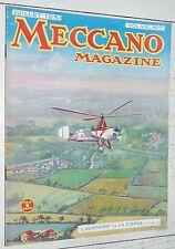 MECCANO MAGAZINE 1931 N°7 AUTOGIRE LA CIERVA TRACTEUR GRUE MANEGE LOCOMOTIVES