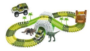 Rennbahn Magic Traxx Dino-Park, Mini Set mit Tunnel 109-teilig
