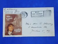 1943 WW2 Patriotic Postal Cover Free Frank, Cachet: Heroic Past Glorious Future