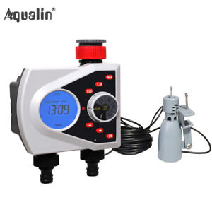 LCD 2-Outlet Garden Automatic Water Timer Irrigation Controller With Rain Sensor