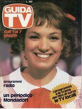 rivista GUIDA TV ANNO 1980 NUMERO 22 ELISABETTA VIVIANI