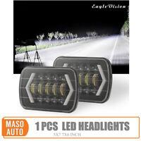 """Proiettore Faro Jeep LED Luce DRL Lampada Fascio Halo Hi-Lo 300W 7x6'' 5X7"""""""
