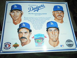 """LOS ANGELES DODGERS POSTER...""""THE RECORD SETTING INFIELD 1992 LIMITED ED."""