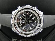 Custom Seminuevo Breitling Bentley A4436412 reloj de Diamante con 11 CT Diamante