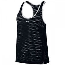 Nike Women's Md - LACROSSE DRY TRAINING TANK TOP PINNIE - Black 836035 010 white