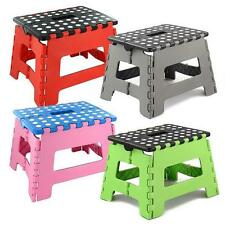 Durable  Plastic Multi Purpose Folding Step Stool Home Kitchen Easy Storage GW