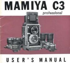 """Mamiya C3 Original Instruction Manual (4""""x4"""")"""