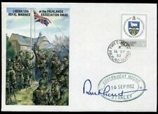 1982 Sir Rex Hunt Signed LIBERATION OF THE FALKLANDS ROYAL MARINES COVER
