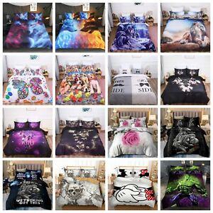 Bettbezug Skull Wolf Blumen Bettwäsche 80×80 Kissenbezug 135x200 155×220 220×240