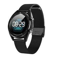 Smartwatch DT28 OLED Pulsuhr Blutdruck Fitness Smartband IP68 Milanaise Schwarz