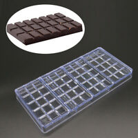 1 pc Clear Hard Chocolate Maker Polycarbonate PC DIY Square Candy Mold Mould