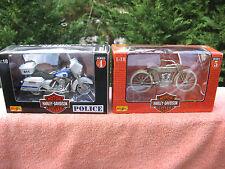 2 Maisto Harley-Davidson Motor Cycles 1909 Twin 5D V-Twin & Milwaukee PD
