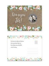 25 x Save the Date Karten zum Rubbeln, Einladungen Hochzeit