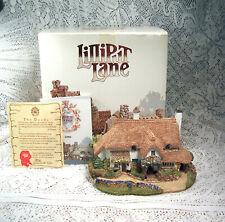 Vintage 1990 Lilliput Lane Periwinkle Cottage Artist Signed Dated Original Box M