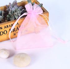 10pcs Pink Organza Gift Bag Candy Jewellery Pouch Wedding Birthday 7x9cm