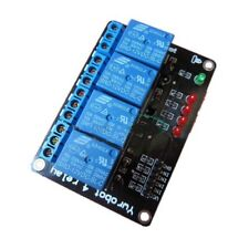 USA !! 1 PC 12 VDC 4-CHANNEL 10 AMP RELAY MODULE , LOW LEVEL TTL INPUT WITH LEDS