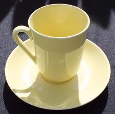 "Vintage ARABIA Made Finland Chartreuse Yellow 3 3/4""h Cup & Saucer Chipped"