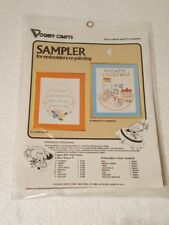 VOGART STAMPED EMBROIDERY OR BALL POINT PAINTING CANVAS WHAT'S COOKING SAMPLER