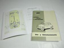 Manual uso y entretenimiento Seat 600 D