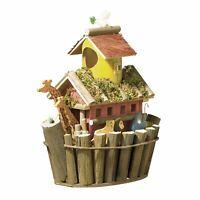 Thatch Roof Wood Cottage Chimney Birdhouse Bird House