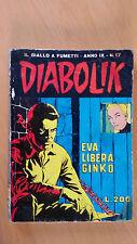 DIABOLIK anno IX n. 17  Eva libera Ginko  ORIGINALE  Sodip 1970