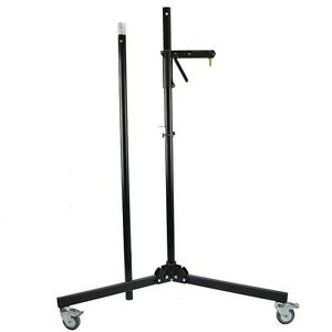 Manfrotto Tripod With 231ARM Gleitträgerarm Black Wheeled Stand Column Stand