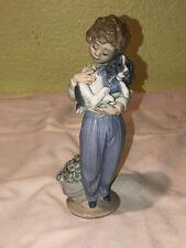 Lladro Figurine My Buddy Boy with Puppy #7609, 1989 Collectors Society No Box