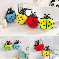 Ladybug Shape Wall Sucker Suction Hook Tooth Brush Holder Bathroom Funny Case