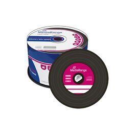 50x MediaRange Vinyl CD-R Rohlinge Black Schallplatten Cakebox MR225
