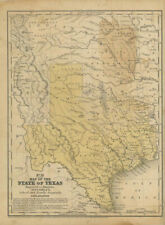 Map of the State of Texas Engraved to Illustrate Mitchell's School and Family