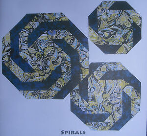SPIRALS Table Topper Quilt FABRIC KIT - using Robert Kaufman Fabric - Blue/Gold
