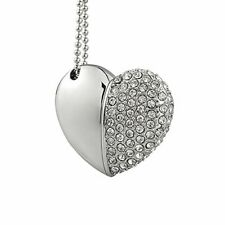Shooo 8GB Crystal Loving Heart Shape Jewelry USB Flash Drive Memory Stick with N